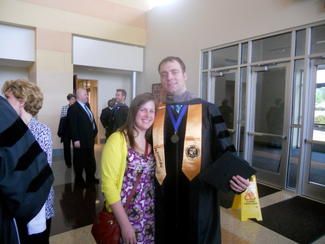 dr. brad and i after his graduation ceremony