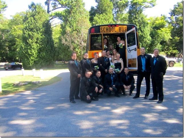 bridal party - bus