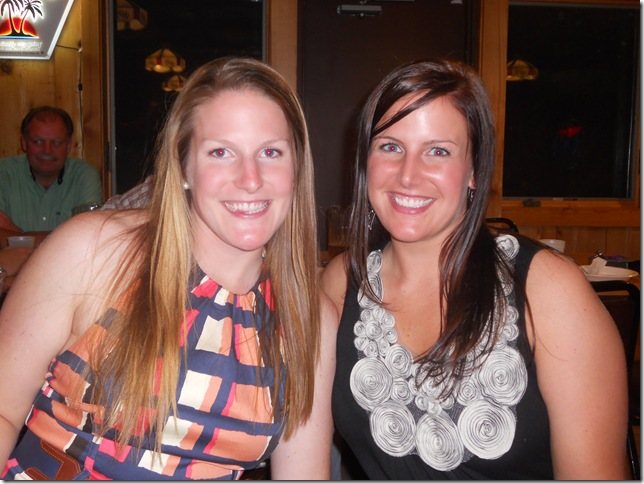 me and liz and rehearsal dinner