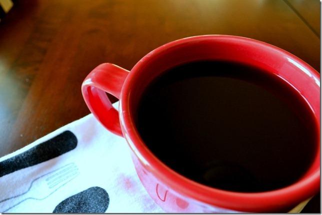 coffee big red mug